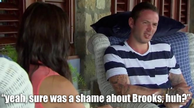 Nate questions Desiree about Chris and Brooks on the bachelorette.