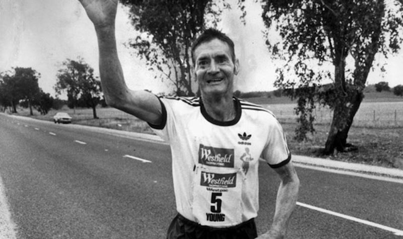 Cliff Young was a marathoner from Australia at age 62.