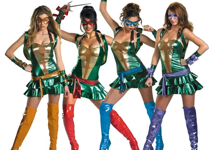 Sexy TMNT Halloween costume.