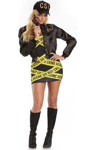Sexy CSI Halloween costume.