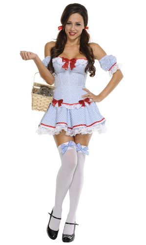 Sexy skanky Dorothy from the Wizard of Oz Halloween costume.