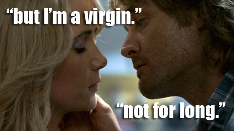 MacGruber sex scene virgin not for long.
