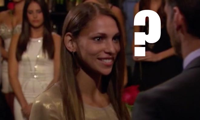 Danielle accepts a rose from Bachelor Juan Pablo.