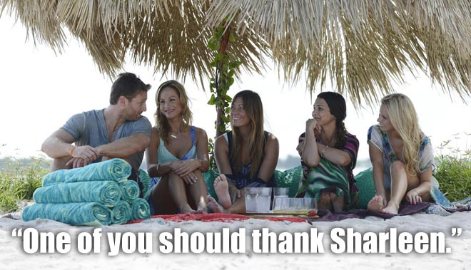 Clare, Renee, Andi and Chelsie share the last group date with Bachelor Juan Pablo in Miami.