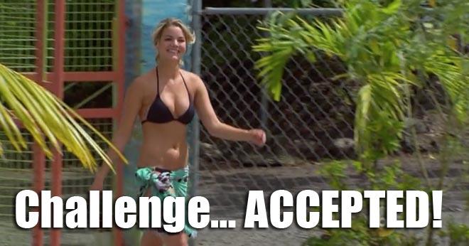 Nikki wears a bikini for her date with Juan Pablo.