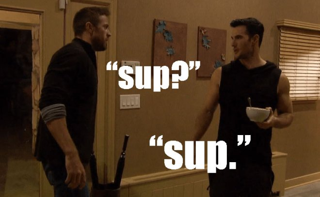 Chad and Daniel talk after Chad is eliminated by JoJo on the Bachelorette.