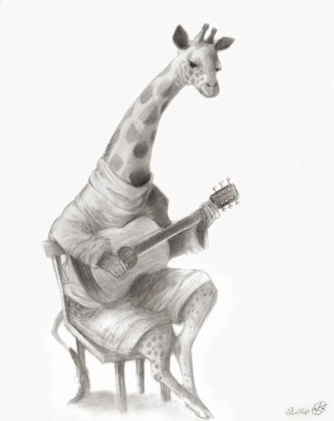 giraffe_with_guitar_by_polvoice