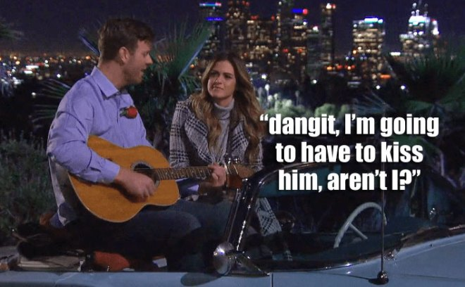 James Taylor plays guitar for JoJo on their Bachelorette date.