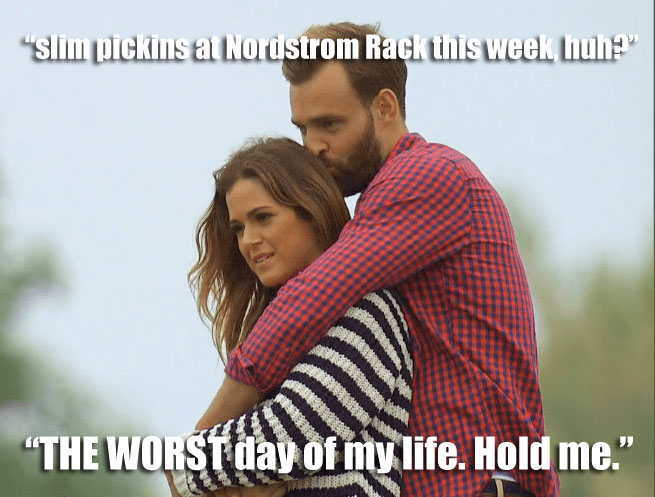 Robby and JoJo share a hug on their Uruguay date on the Bachelorette.