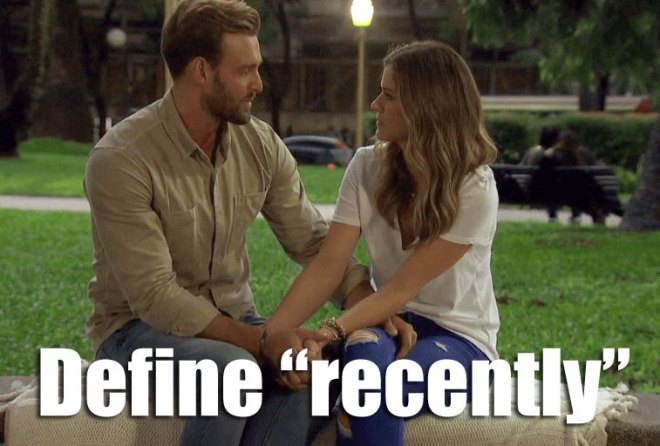 JoJo confronts Robby about his ex girlfriend on the bachelorette.