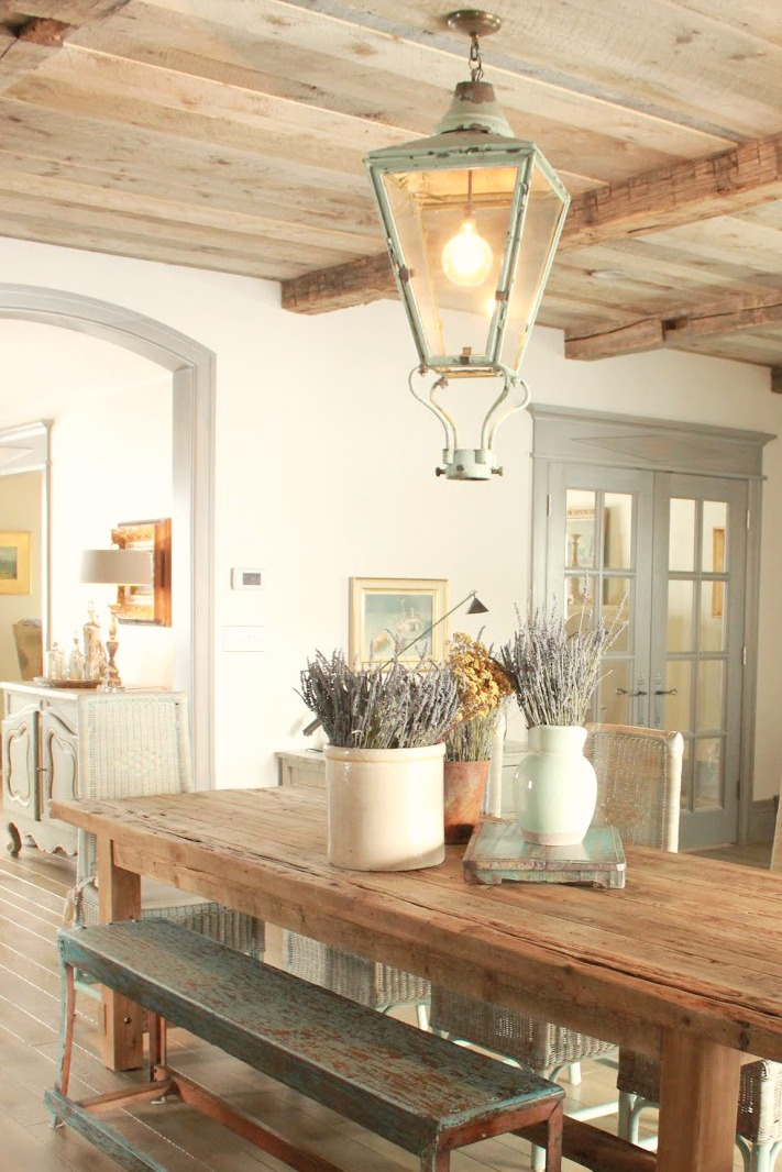 8 French Country Kitchen Decorating Ideas With Blues  Greens Decor de Provence  Hello Lovely