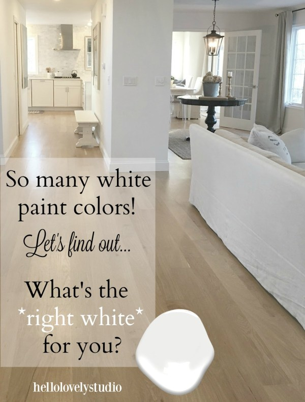 Choose White Paint Color Time Home Decor Ideas - Lovely