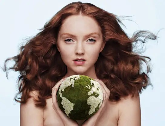 Lily Cole for the Body Shop cruelty free beauty products