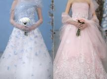Coloured wedding dresses from 2013 catwalks and inspired ...