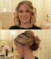 wedding day hairstyle vintage