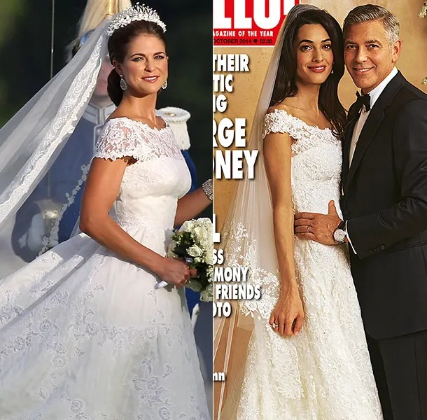 Amal Alamuddin's wedding dress copy