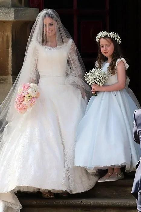 Geri Halliwells Wedding Dress Designer Reveals Inspiration