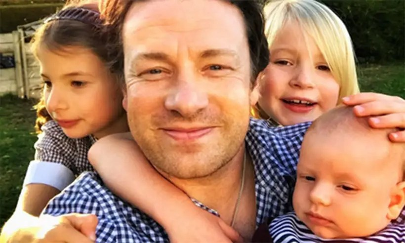 jamie oliver shares adorable