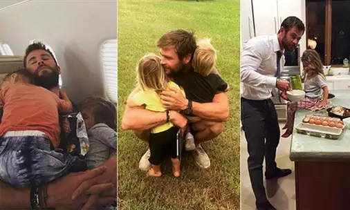 The sweetest photos of Chris Hemsworth with his children