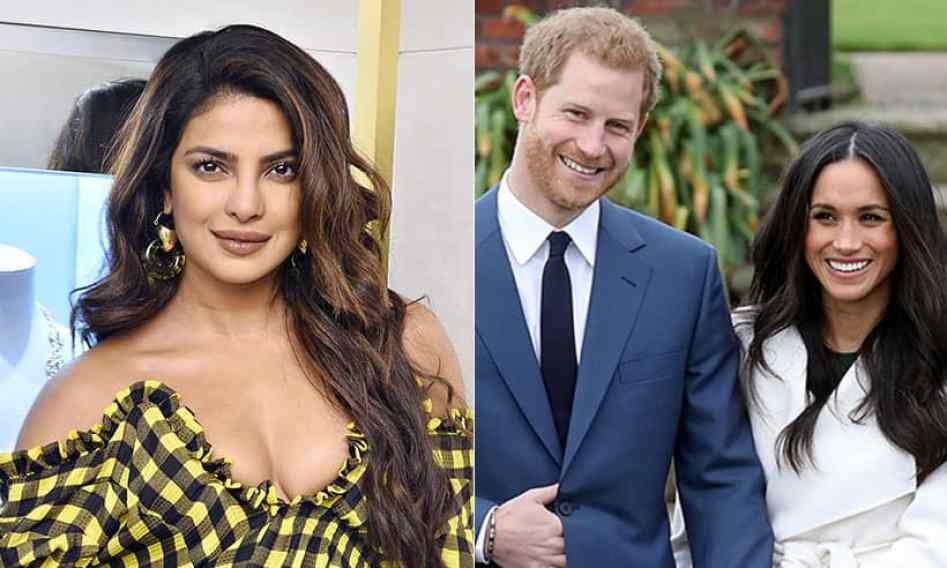 Image result for Priyanka Chopra Congratulates Meghan Markle, Prince Harry