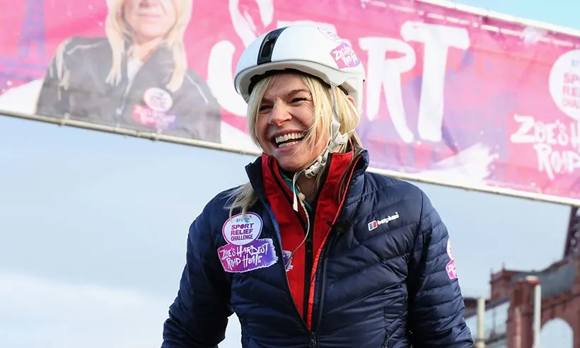 Zoe Ball Completes First Leg Of Sports Relief Challenge In