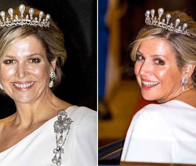 Celebrity Daily Edit Queen Maxima Dons Amazing Tiara At Gala Dinner Latest The Crown