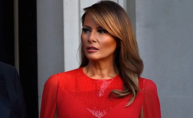 Melania Trump Turns Up The Glam In Givenchy At Winfield