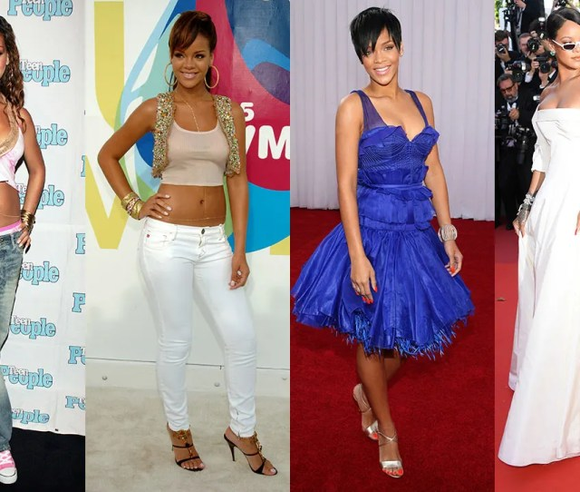 10 Of Rihannas Most Stylish Moments From Crop Tops Low Rise Jeans To