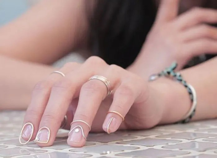 Nail Rings New Fashion-Telugu Fashion And Beauty Trends