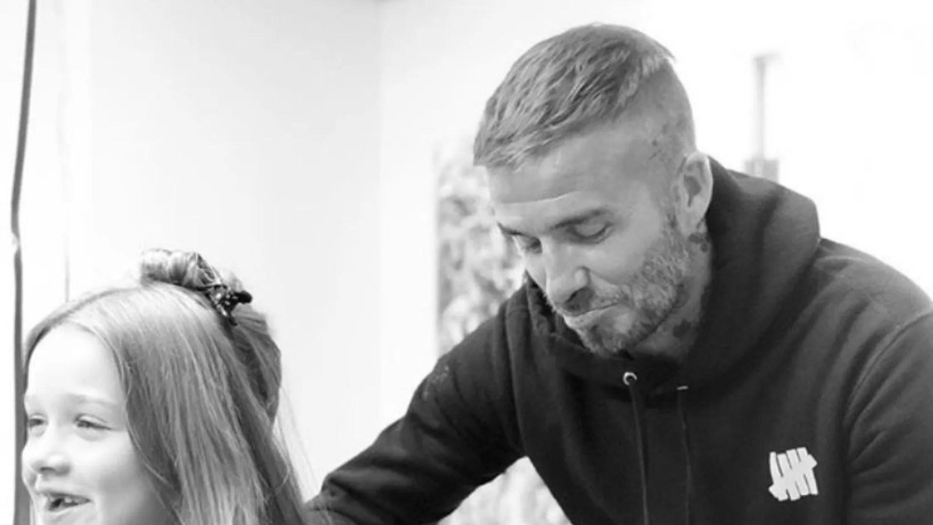 David Beckham Reveals He Cut Harpers Hair Short But He