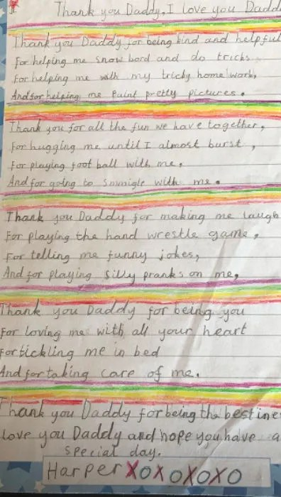 Thank you for loving me letter thank you for loving me letter harper beckhams love letter expocarfo Image collections