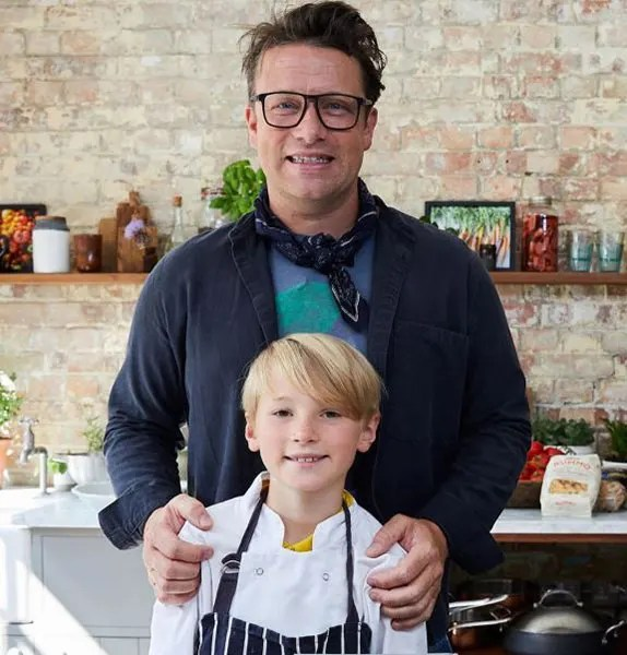 Jamie Oliver's son Buddy, 8, follows in famous dad's footsteps