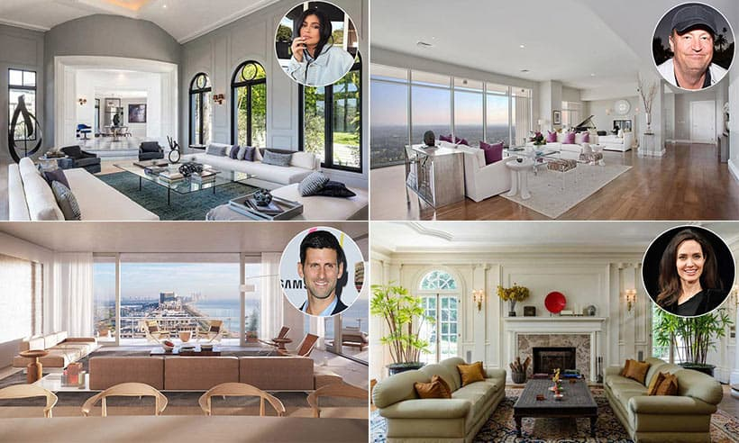 most beautiful living rooms light pink room walls celebrity you ll want to copy photo 1