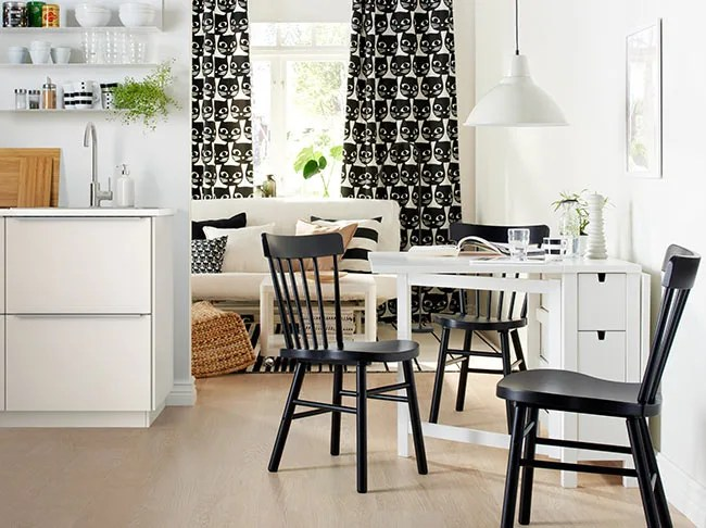 small kitchen table ideas hansgrohe talis c faucet 10 dining room to make the most of your space 1 ikea foldaway