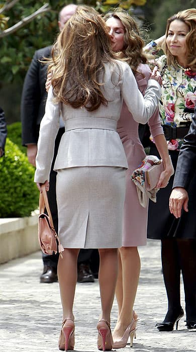 Rania and Letizia Mirror image elegance from two of the