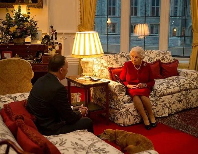 Inside The Queens Sitting Room In Windsor Castle