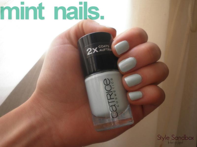 mint nails.
