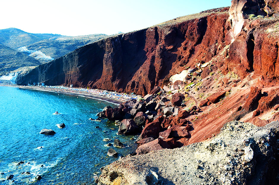 santorini red beach what to do greece unique