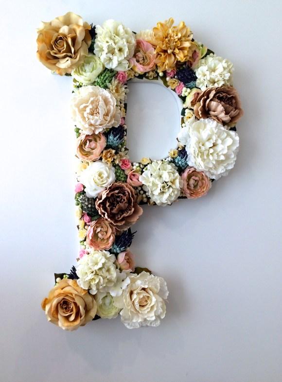 Flower Buchstaben – cooles DIY für den Frühling