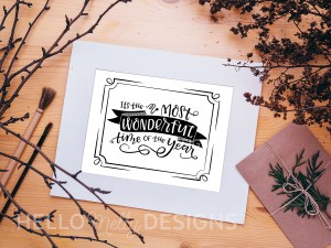 Its The Most Wonderful Time of the Year Free Printable