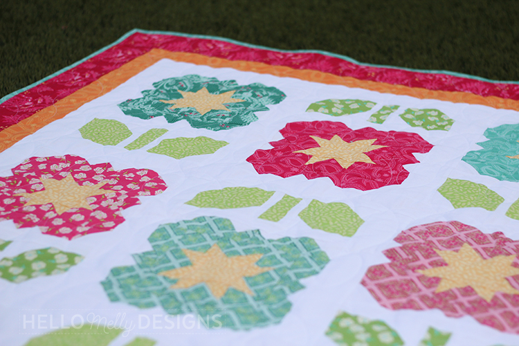 Garden Grow Quilt Pattern Close
