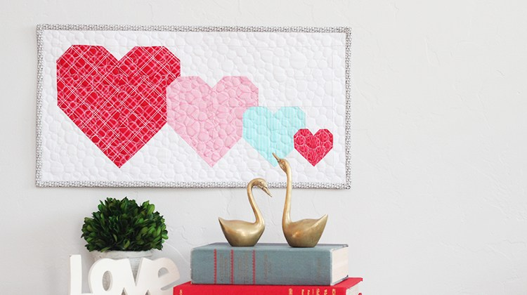 I Heart You Mini Quilt