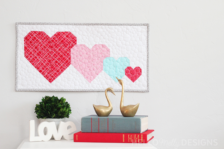 I Heart U Mini Quilt Sew Along