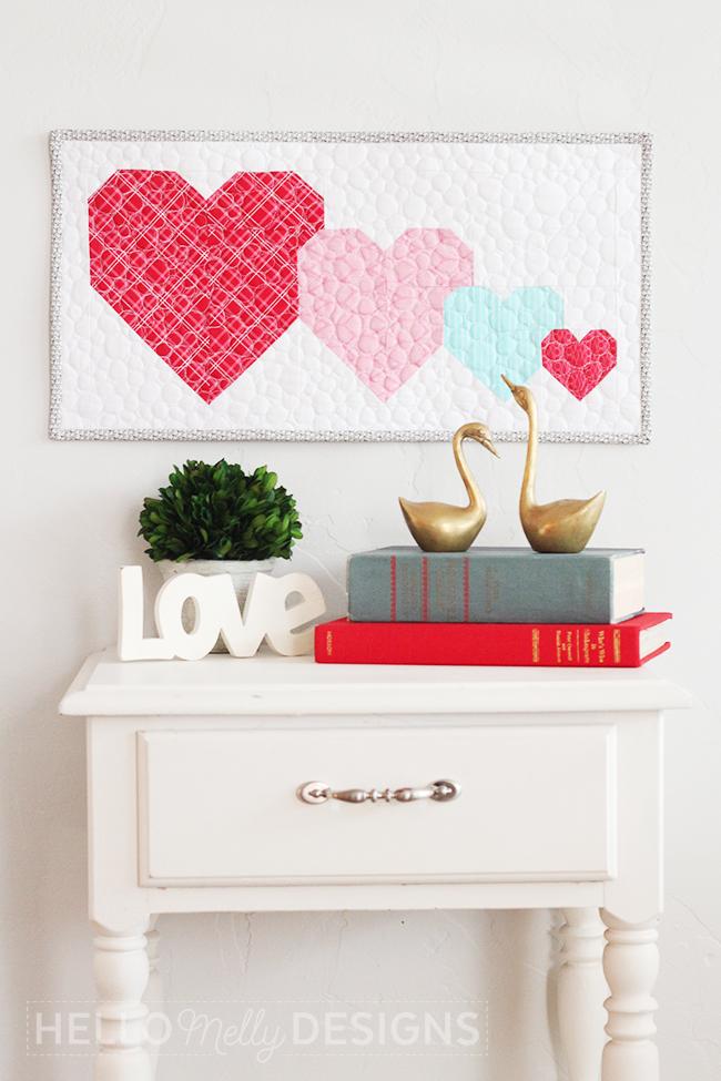 I Heart U Mini Quilt