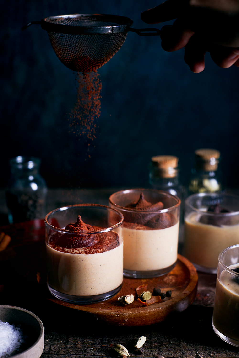 Vegan Masala Chai Pumpkin Pudding w/Dark Chocolate Ganache Swirls | Hello My Dumpling (gluten-free, refined sugar free)