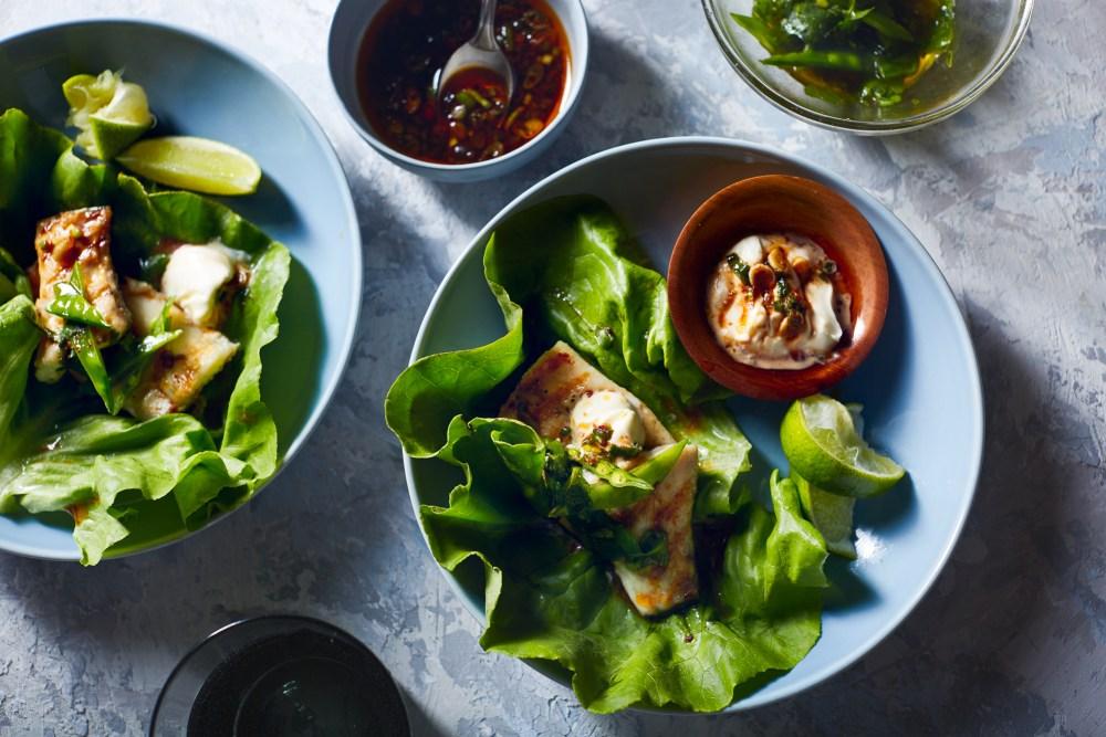 Barramundi Fish Ssam (Lettuce Wrap) | Hello My Dumpling