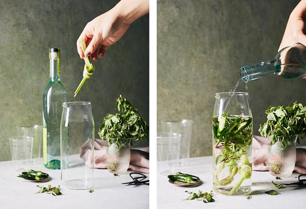 Spicy Cucumber, Lemongrass, Basil Caipirinha | Photographer Jenny Huang | Hello My Dumpling