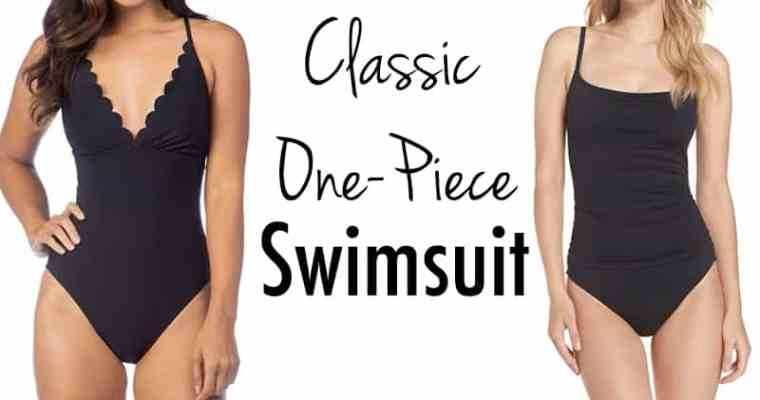 BLACK ONE-PIECE SWIMWEAR FOR THIS SUMMER!