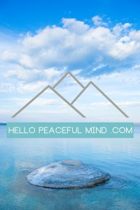 Hello Peaceful Mind is a health and wellness blog