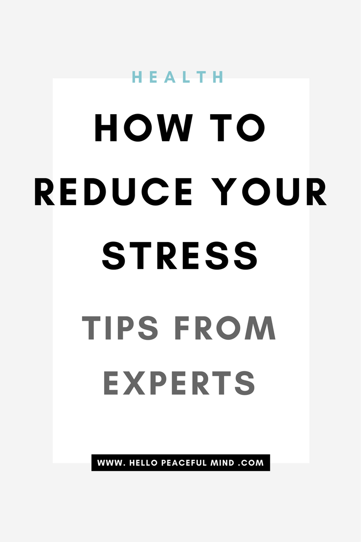 Discover how to reduce your daily stress with these tips from 4 amazing mental health bloggers! Go to www.HelloPeacefulMind.com to read the full article!